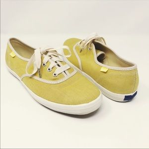 Keds yellow linen sneakers size 7.5